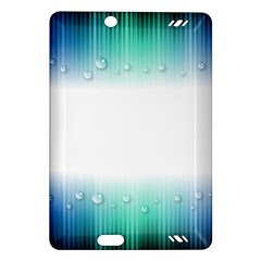 Blue Stripe With Water Droplets Amazon Kindle Fire Hd (2013) Hardshell Case by Nexatart