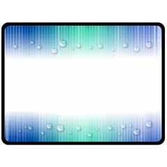 Blue Stripe With Water Droplets Double Sided Fleece Blanket (large)  by Nexatart