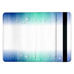Blue Stripe With Water Droplets Samsung Galaxy Tab Pro 12 2  Flip Case