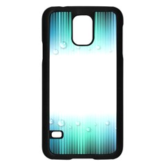 Blue Stripe With Water Droplets Samsung Galaxy S5 Case (black)