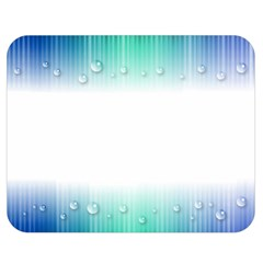Blue Stripe With Water Droplets Double Sided Flano Blanket (medium)