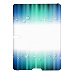 Blue Stripe With Water Droplets Samsung Galaxy Tab S (10 5 ) Hardshell Case  by Nexatart