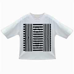 Black And White Abstract Stripped Geometric Background Infant/toddler T Shirts