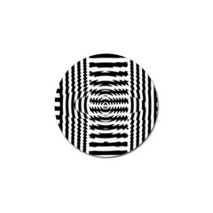 Black And White Abstract Stripped Geometric Background Golf Ball Marker
