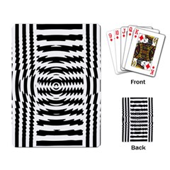 Black And White Abstract Stripped Geometric Background Playing Card