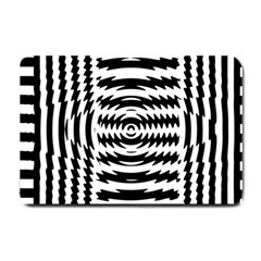 Black And White Abstract Stripped Geometric Background Small Doormat
