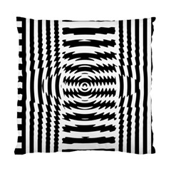 Black And White Abstract Stripped Geometric Background Standard Cushion Case (two Sides) by Nexatart