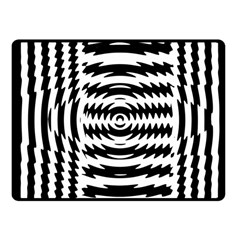 Black And White Abstract Stripped Geometric Background Fleece Blanket (small)