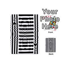 Black And White Abstract Stripped Geometric Background Playing Cards 54 (mini)