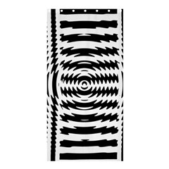 Black And White Abstract Stripped Geometric Background Shower Curtain 36  X 72  (stall)  by Nexatart