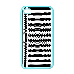 Black And White Abstract Stripped Geometric Background Apple Iphone 4 Case (color)