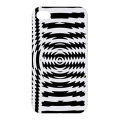 Black And White Abstract Stripped Geometric Background Apple Iphone 4/4s Hardshell Case