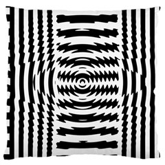 Black And White Abstract Stripped Geometric Background Large Cushion Case (One Side)