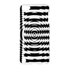Black And White Abstract Stripped Geometric Background Apple Ipod Touch 5 Hardshell Case by Nexatart