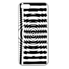 Black And White Abstract Stripped Geometric Background Apple Seamless Iphone 5 Case (clear) by Nexatart