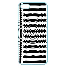 Black And White Abstract Stripped Geometric Background Apple Seamless Iphone 5 Case (color) by Nexatart