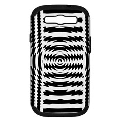 Black And White Abstract Stripped Geometric Background Samsung Galaxy S III Hardshell Case (PC+Silicone) by Nexatart