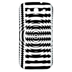 Black And White Abstract Stripped Geometric Background Samsung Galaxy S3 S Iii Classic Hardshell Back Case by Nexatart