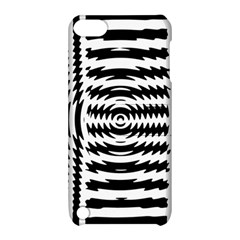 Black And White Abstract Stripped Geometric Background Apple Ipod Touch 5 Hardshell Case With Stand by Nexatart