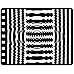 Black And White Abstract Stripped Geometric Background Double Sided Fleece Blanket (medium)  by Nexatart