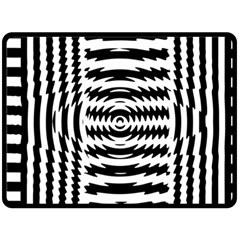 Black And White Abstract Stripped Geometric Background Double Sided Fleece Blanket (large)  by Nexatart