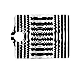 Black And White Abstract Stripped Geometric Background Kindle Fire Hd (2013) Flip 360 Case by Nexatart
