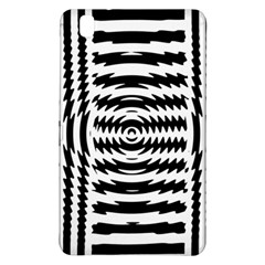 Black And White Abstract Stripped Geometric Background Samsung Galaxy Tab Pro 8 4 Hardshell Case