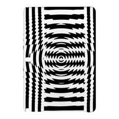 Black And White Abstract Stripped Geometric Background Samsung Galaxy Tab Pro 12 2 Hardshell Case