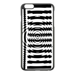 Black And White Abstract Stripped Geometric Background Apple Iphone 6 Plus/6s Plus Black Enamel Case