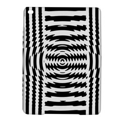 Black And White Abstract Stripped Geometric Background Ipad Air 2 Hardshell Cases by Nexatart