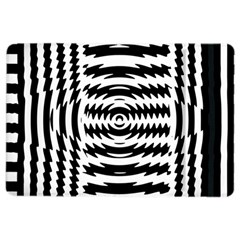 Black And White Abstract Stripped Geometric Background Ipad Air 2 Flip by Nexatart