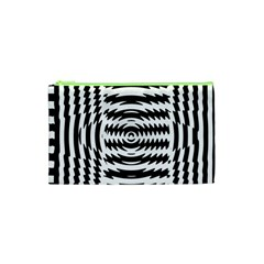 Black And White Abstract Stripped Geometric Background Cosmetic Bag (xs) by Nexatart