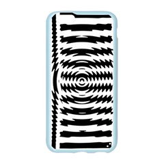 Black And White Abstract Stripped Geometric Background Apple Seamless iPhone 6/6S Case (Color) by Nexatart