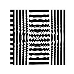 Black And White Abstract Stripped Geometric Background Small Satin Scarf (square) by Nexatart