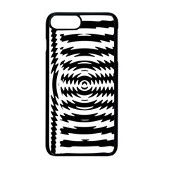 Black And White Abstract Stripped Geometric Background Apple iPhone 7 Plus Seamless Case (Black)