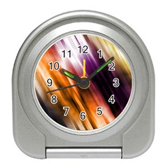 Colourful Grunge Stripe Background Travel Alarm Clocks