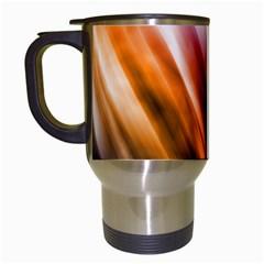 Colourful Grunge Stripe Background Travel Mugs (white)