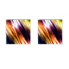 Colourful Grunge Stripe Background Cufflinks (square) by Nexatart