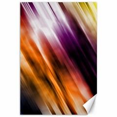 Colourful Grunge Stripe Background Canvas 12  X 18   by Nexatart