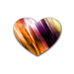 Colourful Grunge Stripe Background Heart Coaster (4 Pack)