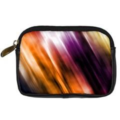 Colourful Grunge Stripe Background Digital Camera Cases by Nexatart
