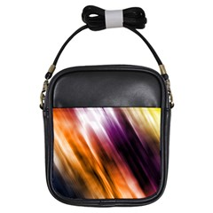 Colourful Grunge Stripe Background Girls Sling Bags