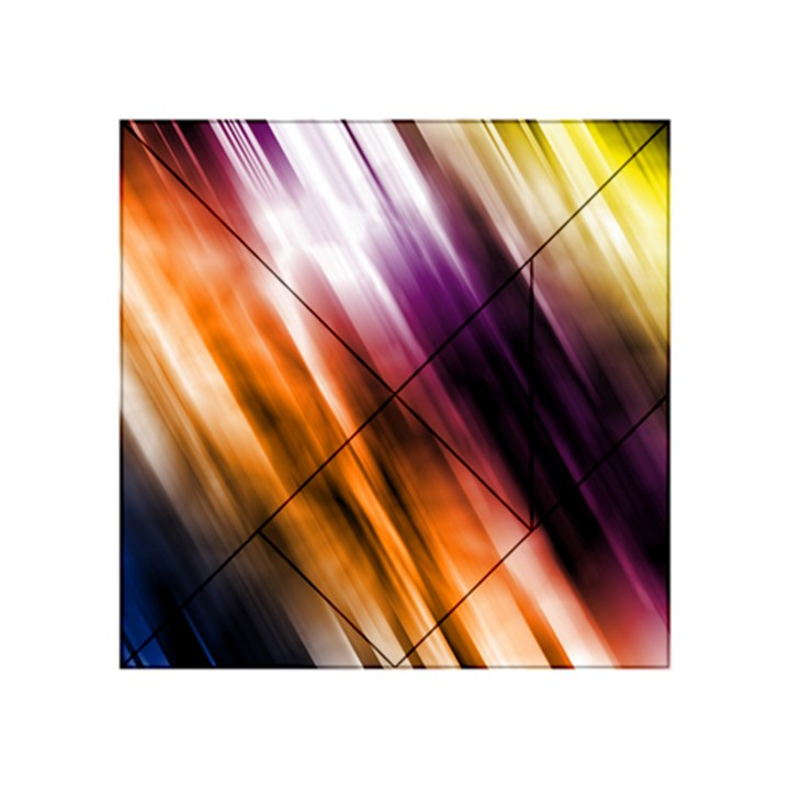 Colourful Grunge Stripe Background Acrylic Tangram Puzzle (4  x 4 )