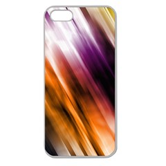 Colourful Grunge Stripe Background Apple Seamless Iphone 5 Case (clear) by Nexatart