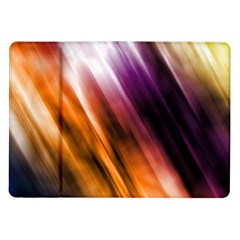 Colourful Grunge Stripe Background Samsung Galaxy Tab 10 1  P7500 Flip Case