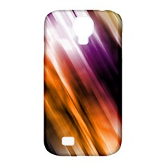 Colourful Grunge Stripe Background Samsung Galaxy S4 Classic Hardshell Case (pc+silicone)
