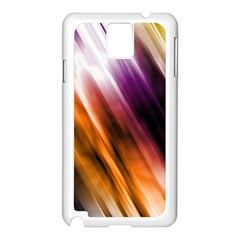 Colourful Grunge Stripe Background Samsung Galaxy Note 3 N9005 Case (white) by Nexatart