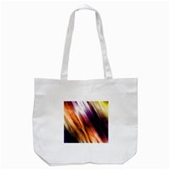 Colourful Grunge Stripe Background Tote Bag (white)