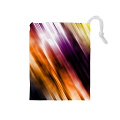 Colourful Grunge Stripe Background Drawstring Pouches (medium)