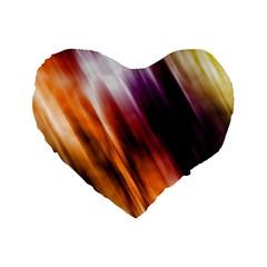 Colourful Grunge Stripe Background Standard 16  Premium Flano Heart Shape Cushions by Nexatart